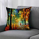 economico -doppio lato 1 pezzo fodera per cuscino botanico stampa 45x45cm lino per divano camera da letto