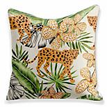 economico -doppio lato 1 pz foglia cuscino stampa 45x45 cm lino per divano camera da letto