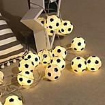 economico -1,5 m 3M Fili luminosi 10/20 LED 1 set Bianco caldo Multicolore Natale Capodanno All'aperto Feste Decorativo Batterie AA alimentate