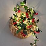 economico -2,2 m Fili luminosi 20 LED 1 set Bianco caldo Natale Capodanno Feste Decorativo Vacanze Alimentazione USB Batterie AA alimentate
