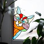 economico -decalcomania della parete della decorazione della casa del pvc preincollato 1pc autoadesivo della finestra animale