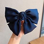 abordables -1 PCS Enfants / Bébé Fille Doux Usage quotidien Couleur Pleine Noeud Polyester Accessoires Cheveux Noir / Rouge / Vert Taille unique