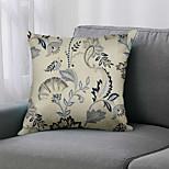 economico -double side 1 pz fodera per cuscino floreale stampa 45x45cm lino per divano camera da letto