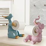 abordables -Mignon éléphant stockage étagère à mouchoirs ornements salon bureau support de rouleau de papier résine cuisine serviette de table