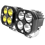abordables -otolampara 3 pouces led barre lumineuse de travail 12v 24v pour voiture jaune antibrouillard 4x4 hors route moto tracteurs feux de conduite projecteur carré blanc