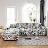 economico -Copridivano 1 pz geometrico nero linee bianche elastico soggiorno divano parapolvere per animali reclinabile