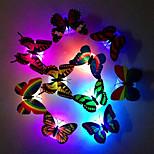 economico -6pcs creativo luminoso farfalla luce notturna che cambia led luce notturna lampada adesivi murali decalcomania home decor