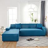 economico -copridivano contratto colore blu stampa antipolvere elasticizzato tessuto super morbido divano a forma di l (riceverai 1 federa come regalo gratuito)