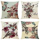 economico -fodera per cuscino 4 pz lino morbido animale quadrato tiro cuscino federa federa per divano camera da letto 45 x 45 cm (18 x 18 pollici) qualità superiore lavabile in lavatrice