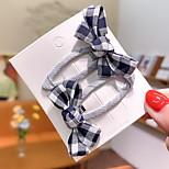 abordables -2 pièces Enfants Fille Doux Usage quotidien Couleur Pleine Noeud Polyester Accessoires Cheveux Noir / Rouge / Jaune Taille unique