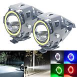 abordables -1 pc Angel Eyes Projecteurs 12V-80V U7 LED Pour Universel Moteur Voiture Lumière DRL Phare Moto Lampe Auxiliaire Interrupteur De Conduite Strobe