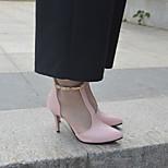economico -Per donna Sandali A stiletto Appuntite PU Di pizzo Tinta unita Bianco Nero Rosa