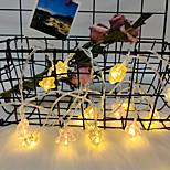 abordables -3M Guirlandes Lumineuses 20 LED 1 jeu Blanc Chaud Noël Nouvel An Soirée Décorative Vacances Alimenté par Port USB Piles AA alimentées
