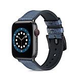 economico -Cinturino intelligente per Apple  iWatch 1 pcs Banda di affari Silicone Vera pelle Sostituzione Custodia con cinturino a strappo per Apple Watch Serie 6 / SE / 5/4 44 mm Apple Watch Serie 6 / SE