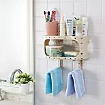 abordables -support créatif mur d'aspiration salle de bains toilette support de stockage de débris support à ventouse suspendu
