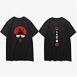 abordables -Inspiré par Naruto Uzumaki Naruto Costume de Cosplay Manches Ajustées Microfibre Imprimés Photos Imprimé Tee-shirt Pour Homme / Femme