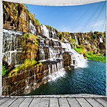 abordables -Tapisserie murale art décor couverture rideau suspendu maison majestueux cascade paysage chambre salon décoration
