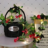 abordables -2,2m Guirlandes Lumineuses 20 LED 1 jeu Blanc Chaud Noël Nouvel An Soirée Décorative Vacances Alimenté par Port USB Piles AA alimentées