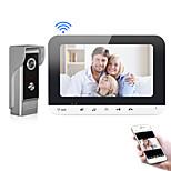 abordables -XINSILU XSL-V70MG-WIFI Wi-Fi / Câblé Photographié / Enregistrement 7 pouce Système Mains-Libres 800*480 Pixel interphone vidéo