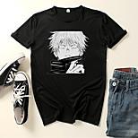 abordables -Inspiré par Jujutsu Kaisen Gojo Satoru Costume de Cosplay Manches Ajustées Microfibre Imprimés Photos Imprimé Tee-shirt Pour Femme / Homme