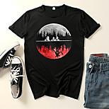 abordables -Inspiré par Cosplay Choses étranges Microfibre Costume de Cosplay Manches Ajustées Imprimé Imprimés Photos Tee-shirt Pour Homme / Femme