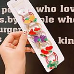 abordables -10 pièces Enfants / Bébé Fille Doux Usage quotidien Chat / Lapin Fruit / Animal Motif des animaux Polyester Accessoires Cheveux Arc-en-ciel Taille unique