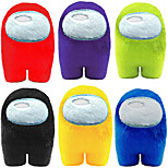abordables -peluche 4 pouces mignon doux en peluche yeux bombés astronaute en peluche (rouge violet vert bleu rose jaune)
