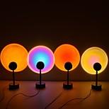 abordables -lumière du coucher du soleil veilleuse projecteur lampe à LED rotation à 360 degrés coucher de soleil veilleuse usb charge romantique lumière led arc-en-ciel lampe de projection pour la maison fête salon chambre décor