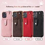 abordables -téléphone Coque Pour Apple Coque Arriere Wallet iPhone 12 Pro Max 11 SE 2020 X XR XS Max 8 7 6 Portefeuille Porte Carte Antichoc Couleur Pleine faux cuir TPU