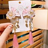 abordables -2 pièces Enfants / Bébé Fille Doux Usage quotidien Papillon Animal Franges Polyester Accessoires Cheveux Bleu / Violet / Rouge Taille unique