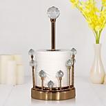 abordables -Bureau porte-mouchoirs en cristal créatif boîte à mouchoirs salle à manger salon vertical support de rouleau de papier en métal