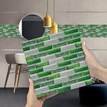 economico -imitazione epossidica piastrella adesivo verde mosaico wall sticker ristrutturazione della casa fai da te autoadesivo pvc carta da parati pittura cucina impermeabile e antiolio wall sticker