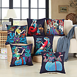 economico -doppio lato 1 pz stampa fodera per cuscino stampa 45x45 cm lino per divano camera da letto