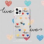 economico -telefono Custodia Per Apple Per retro iPhone 12 Pro Max 11 SE 2020 X XR XS Max 8 7 Resistente agli urti Fantasia / disegno Con cuori TPU