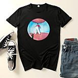 abordables -Inspiré par Harry Cosplay Microfibre Costume de Cosplay Manches Ajustées Imprimé Imprimés Photos Tee-shirt Pour Homme / Femme