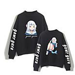 abordables -Inspiré par Cosplay Gawr gura 100 % Polyester Costume de Cosplay Sweat à capuche Imprimé Graphique Sweat à capuche Pour Homme / Femme