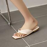 economico -Per donna Pantofole e infradito Quadrato Punta tonda PU Sintetico Nero Giallo Verde