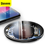 economico -BASEUS 10 W Potenza di uscita Pad di ricarica wireless Caricatore senza fili Caricatore senza fili RoHs CE CCC Per Apple iPhone 12 11 pro SE X XS XR 8 Samsung Glaxy S21 Ultra S20 Plus S10 Note20 10