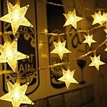 abordables -5m Guirlandes Lumineuses 50 LED Blanc Chaud Noël Nouvel An Soirée Décorative Mariage 5 V