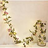 abordables -Roses artificielles fleur de vigne avec des lumières LED chaîne décoration murale de la maison fête de mariage décoration lumières fleurs affichage de la vigne