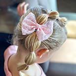 abordables -1 PCS Enfants / Bébé Fille Actif / Doux Usage quotidien Blanc Couleur Pleine Noeud Dentelle Accessoires Cheveux Blanche / Rose Claire / Marron clair Taille unique