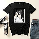 abordables -Inspiré par Cosplay Anges de la mort Microfibre Costume de Cosplay Manches Ajustées Imprimé Imprimés Photos Tee-shirt Pour Homme / Femme