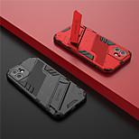 economico -telefono Custodia Per Apple Per retro iPhone 12 Pro Max 11 SE 2020 X XR XS Max 8 7 Con supporto Armatura Tinta unita Armatura TPU