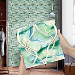 abordables -autocollants de carreaux de couleur émeraude motif de vague de marbre stickers muraux rénovation de maison bricolage auto-adhésif pvc papier peint peinture cuisine autocollants muraux imperméables et