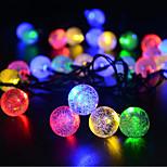 abordables -boule solaire guirlande lumineuse extérieure waterpoof 6,5 m éclairage 30 leds blanc multicolore noël nouvel an extérieur intérieur vacances à l'énergie solaire