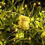 abordables -5m 10m 20m Guirlandes Lumineuses Télécommandes 50/100/200 LED 1 pc Blanc Chaud Blanc La Saint-Valentin Nouvel An Imperméable Extérieur Soirée Alimenté par des piles