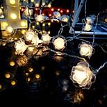 abordables -1,5 m 3M 6m Guirlandes Lumineuses 10/20/40 LED 1 jeu Blanc Chaud Plusieurs Couleurs Noël Nouvel An Extérieur Soirée Décorative Piles AA alimentées