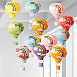 economico -lanterne di carta da appendere riutilizzabili arcobaleno lanterna di carta mongolfiera lanterna di carta da festa cinese decorazione forniture di nozze