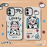 abordables -téléphone Coque Pour Apple Coque Arriere iPhone 12 Pro Max 11 SE 2020 X XR XS Max 8 7 Motif Bande dessinée Animal TPU