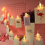 abordables -1,5 m 3M Guirlandes Lumineuses 10/20 LED 1 jeu Blanc Chaud Plusieurs Couleurs Noël Nouvel An Soirée Vacances Etoile Piles AA alimentées